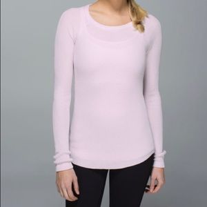 Lululemon Cabin Yogi Long Sleeve Blush 10